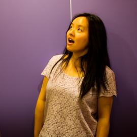 Julia being surprised