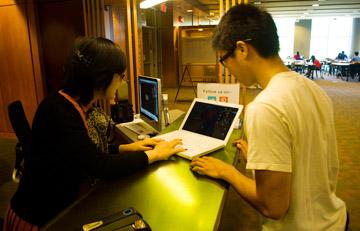a person providing a tech help