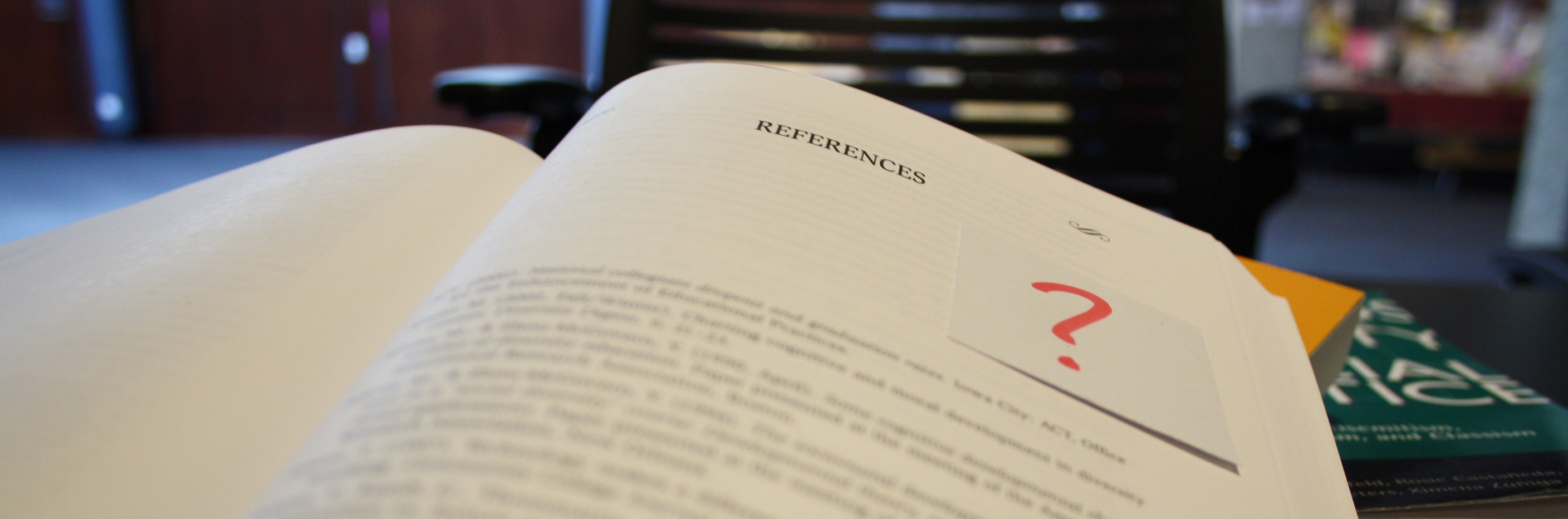 the reference page in a textbook