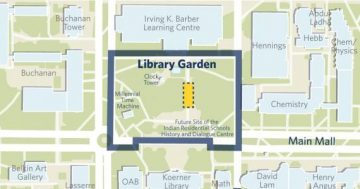 map of where the Library Garden is