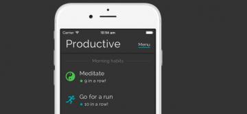 Productivity tracking app