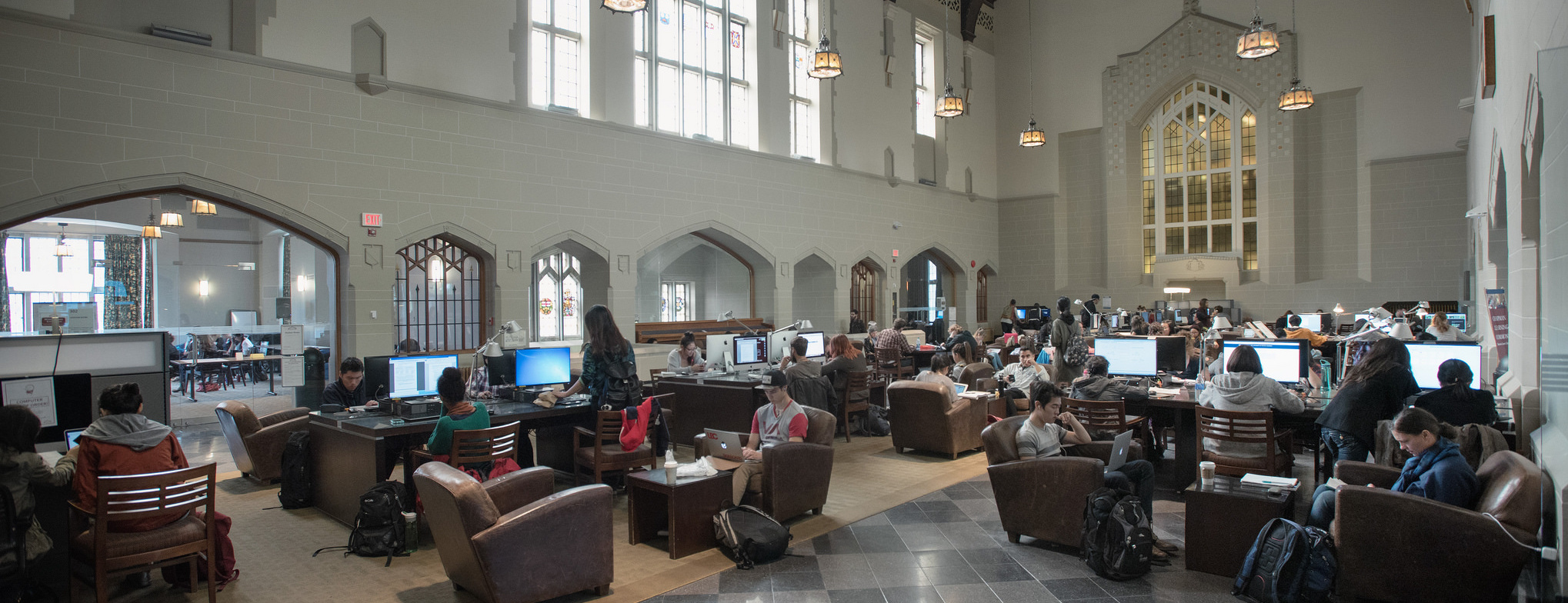 Students studying at the Chapman Learning Commons