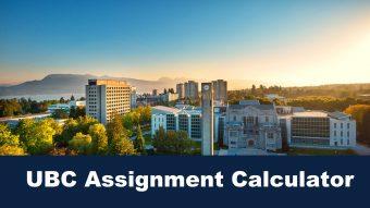 UBC Assignment Calculator