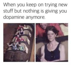 A funny meme about dopamine